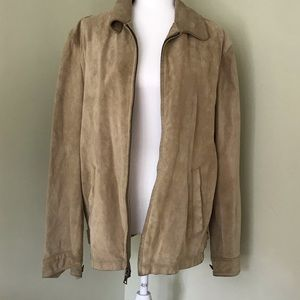 Banana Republic Genuine Leather Beige Suede Jacket